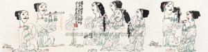 万金难买春颜色 figures by yang xiaoyang
