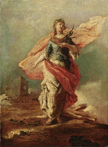 saint barbara by francesco guardi