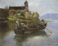 sommermorgen am chiemsee by friedrich (fritz) raupp