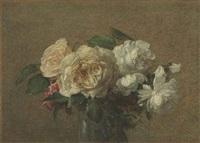 roses blanches et jaunes by henri fantin-latour