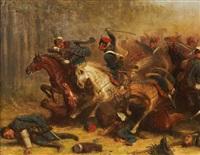 reiterschlacht in den napoleonischen kriegen by adolf northen