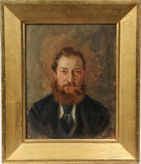 portrait of red bearded man by thomas benjamin kennington