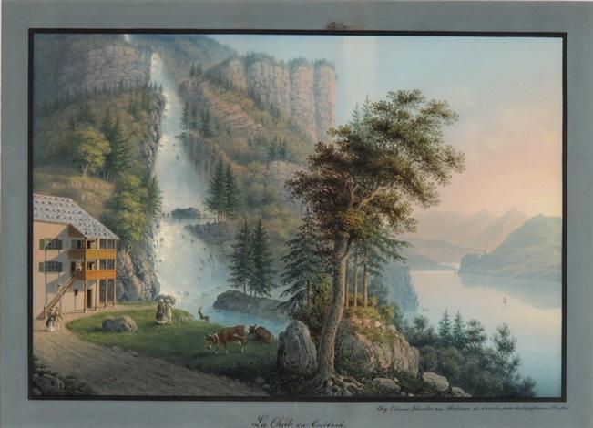 la chute du giessbach by johann ludwig louis bleuler
