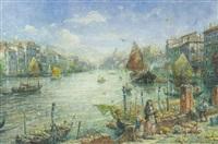 parti fra venedig med canal grande by otto rudolf hessler