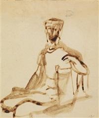 figure study by franz kline