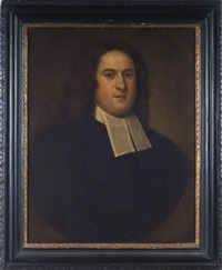 portrait of the reverend joshua gee, pastor of the second church of boston by john smibert