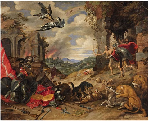 allegory of war by jan brueghel the younger