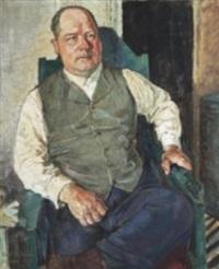 porträtt av tandläkare gunnar danielsson by axel nilsson