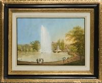 die große fontaine im park wilhelmshöhe in kassel by johann heinrich bleuler the elder