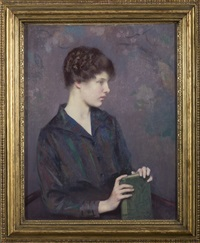 reverie: portrait of a young woman by carl j. nordell