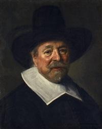 bildnis eines mannes mit hut (reverend john livingston?) by frans hals the elder