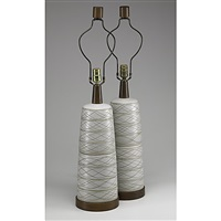 lamps (pair) by gordon and jane martz