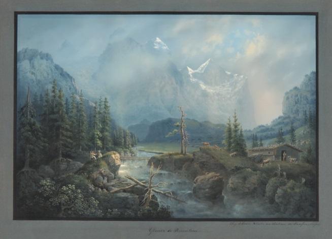 glacier de rosenlaui by johann ludwig (louis) bleuler