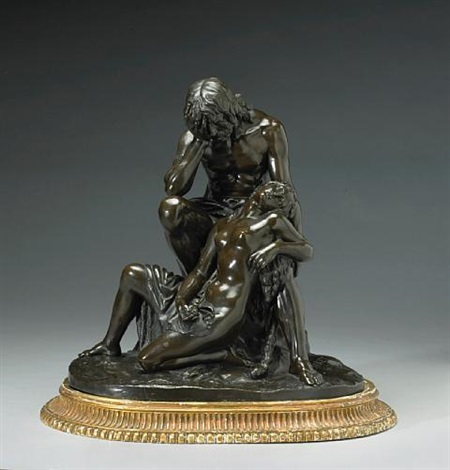 a figural group of adam and eve by jan jozef jaquet