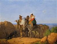 obsternte in der campagna by peter heinrich lambert von hess