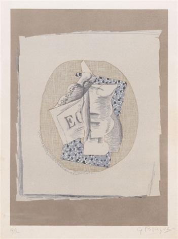 verre et journal 1914 by georges braque