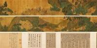 群仙图卷 (character and landscape) by qian xuan