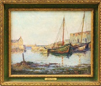 low tide, rockport harbor by arthur e. ward