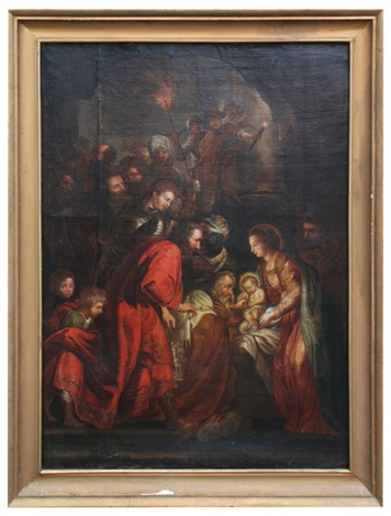 the adoration of the shepherds by sir anthony van dyck