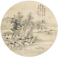 寒林溪亭 by jiang weihan