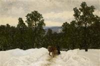slädtur i vinterlandskap by olof arborelius