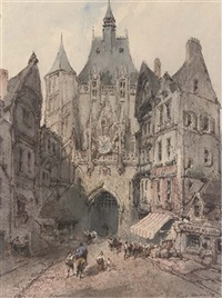view of rouen by paul marny