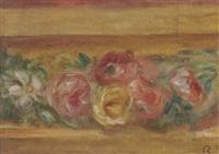 etude pour l'encadrement du portrait madame de galéa, détail de frise (guirlande) by pierre-auguste renoir