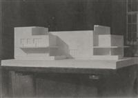 modell des bauhausmeister-einzelhauses, dessau by walter gropius