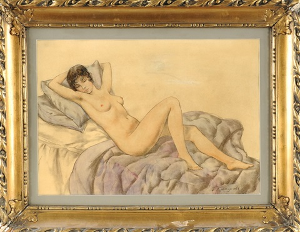 weiblicher akt by boris mikhailovich kustodiev