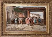 toreros entrando a la capilla en la plaza de las ventas by angel (monedero) lizcano y esteban