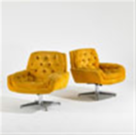 Swivel Tilt Lounge Chairs (pair) By Silver Craft Furniture Co