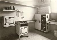 küche im einzelhaus gropius mit schrank von marcel breuer by walter gropius