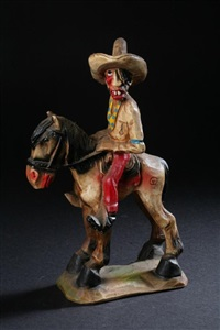 cowboy on horseback by herbert (andy) anderson