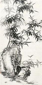 竹石图 by xu guoxiong