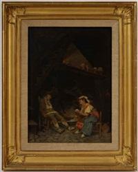 an interior in venice by sir samuel luke fildes