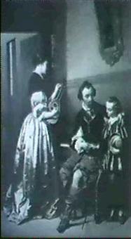 interieur mit junger familie by charles van den daele