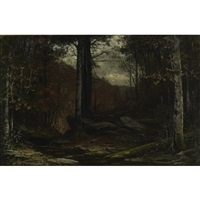 an adirondack forest glade by homer dodge martin