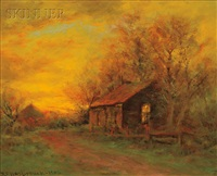 afterglow along a path by dubois fenelon hasbrouck