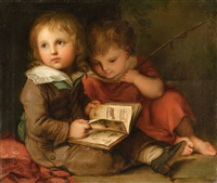 the painter's children - carl christian and friedrich vogel by christian leberecht vogel