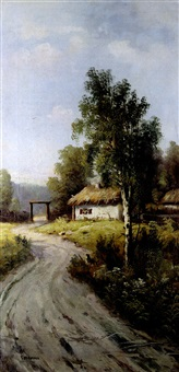 der dorfweg by evgeniy ivanovich stolitsa
