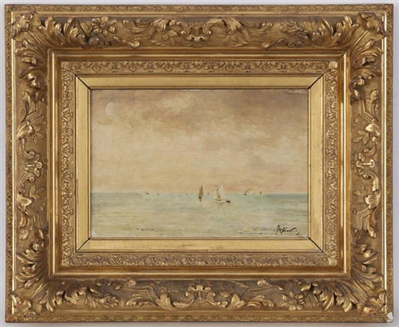 voiliers en mer by alfred stevens