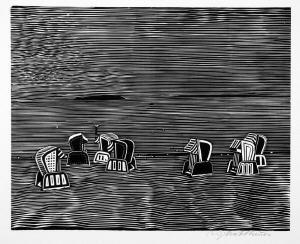 Strandkörbe  Strandkörbe by Wolfgang Mattheuer on artnet