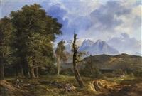 bayerische berglandschaft by ludwig franz karl bohnstedt