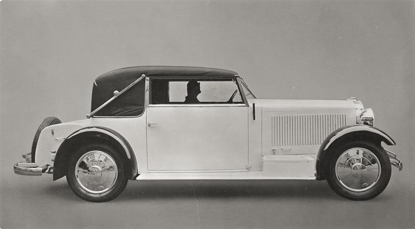 adler-automobil, standard 8, modell gropius (2 works) by walter gropius