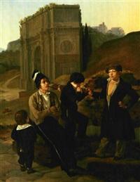 drenge, der ryge tobak. scene fra rom by detlev konrad blunck