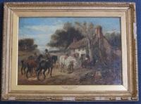 the halt at the cottage by harden sidney melville