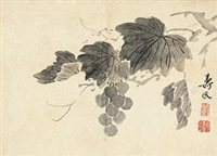 葡萄 (grapes) by bian shoumin