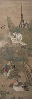 芙蓉鸳鸯 by ren bonian