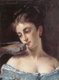 pige med en due by eugène accard
