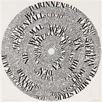 rundscheibe i, iii, iv vi, vii, ix, xii – xv (10 works) by ferdinand kriwet